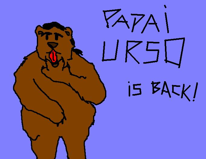 Papai Urso está de volta! Com linguada e tudo...